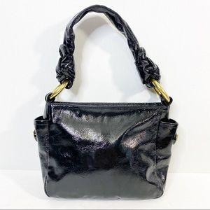 Coach Black Paten Leather Resort small hobo Bag